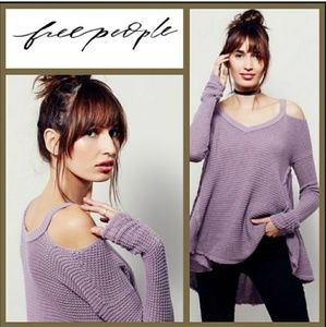 Free People Sweaters - Free People Moonshine Knit VNeck Sweater Sz XSmall